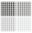 Houndstooth seamless grey black and white pattern vector image