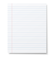 Notebook lined paper background vector image