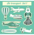 Public transportation air transportation Icon set vector image