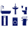 set of isolated bath objects vector image