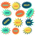 set of speech bubbles on a white background vector image