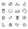 thin line icons - computer vector image