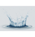 water splash on transparent background water vector image