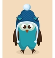 winter holidays hat isolated icon vector image