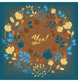 Floral ring with colorful flowers vector image