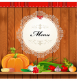 Vegetables Shelf Menu vector image vector image