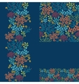 Set of dark plants seamless pattern and borders vector image vector image