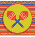 maracas on patterned background vector image vector image