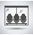 Soccer players bench icon vector image