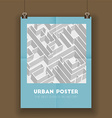 Urban poster vector image