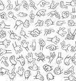 Cartoon Hands Pack Lineart 2 vector image