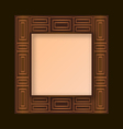 gold decorative frame vector image