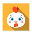 hen muzzle icon in flat style isolated on white vector image