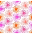 Pattern with small furry flowers or pompoms vector image