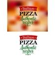 Pizza menu elements vector image