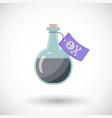 Poison bottle flat ico vector image