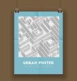 Urban poster vector image