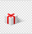 white box with a bow tied with ribbon isolated on vector image