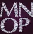Alphabet of diamonds MNOP vector image vector image
