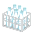 Milk in iron box icon flat style Isolated on vector image
