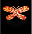 Gold ornamental butterfly vector image vector image