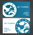 Business cards for plumbers vector image