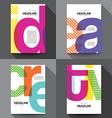 Set of Creative Brochure Flyer design template vector image