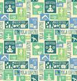 yoga lifestyleSeamless pattern vector image