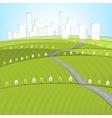 01 Eco Roads City landscape vector image