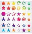 different collection of stars vector image vector image