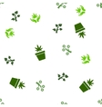 Medical Plant Seamless Flat Pattern vector image