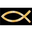Gold fish symbol vector image