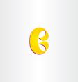 yellow b letter logotype logo b icon vector image