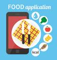 Diet food application Calorie counter app vector image