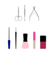 a set of flat manicure vector image