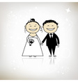 Wedding ceremony - bride and groom together vector image vector image