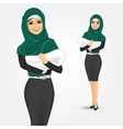arabic woman holding her baby vector image