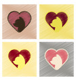 assembly flat shading style icons cat heart vector image
