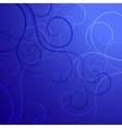 Beautiful swirl pattern on dark background vector image
