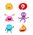 cute monster cartoon collection set vector image