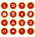 education icon red circle set vector image