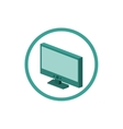 Modern tv technology vector image