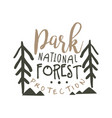 national park forest protection design template vector image