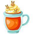 orange juice with whip cream vector image