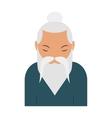Sage elder yoga pranayama old Hindu man vector image