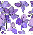 seamless floral pattern with romantic flowers vector image