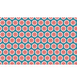 seamless pattern stars in circles vector image