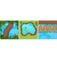 Scenes of water park from top view vector image