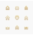 Houses logo set on white background vector image