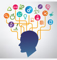 science education infographic idea brain and vector image